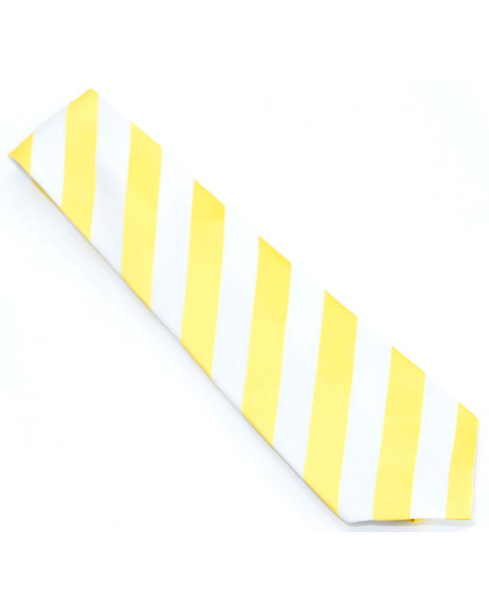Yellow & White Striped Tie