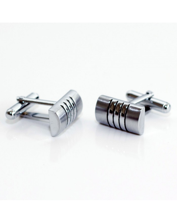 Engraved Stripes Cufflinks