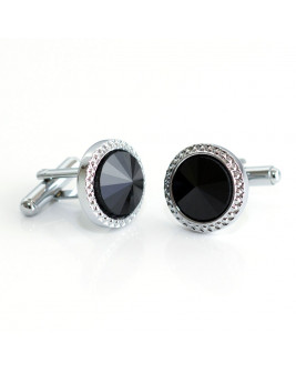 Stylish Black Stone Cufflinks
