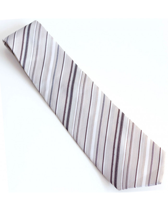 Black & Grey Striped Tie