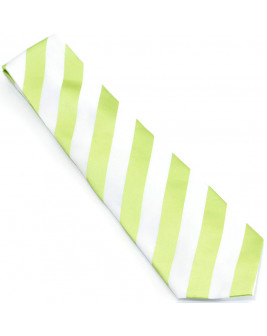 Green & White Striped Tie