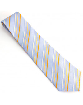 ZenTheMan Grey Striped Tie